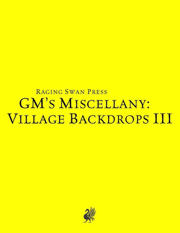 GM's Miscellany: Village Backdrop III (SNE)