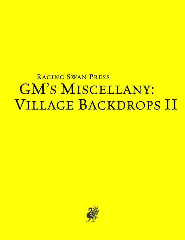 GM's Miscellany: Village Backdrop II (SNE)