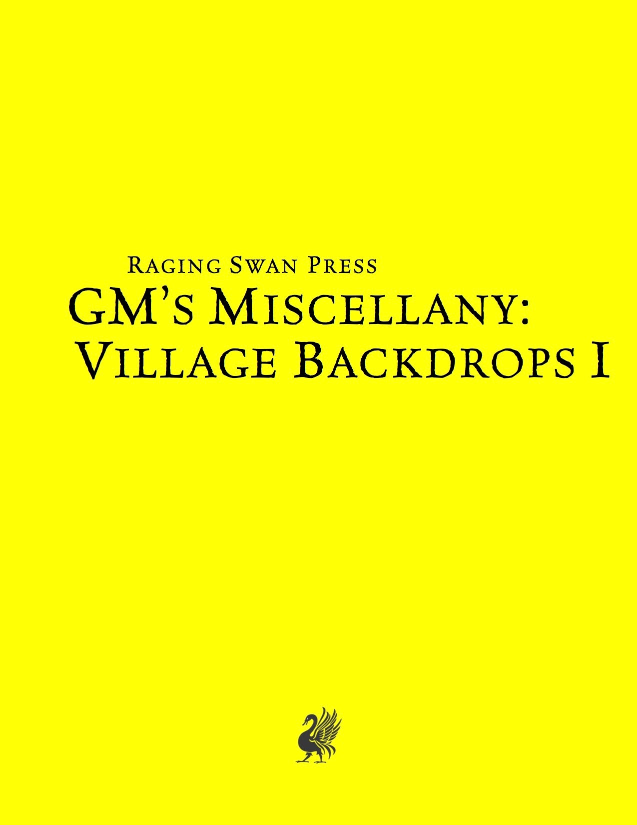 GM's Miscellany: Village Backdrop (SNE)