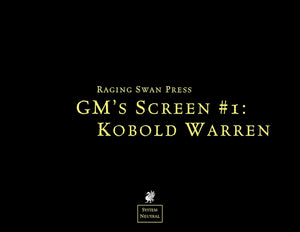 GM's Screen #1: Kobold Warren