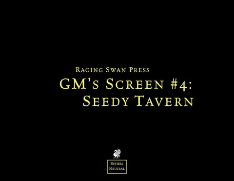 GM's Screen #4: Seedy Tavern