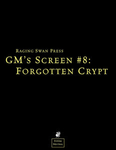 GM's Screen #8: Forgotten Crypt
