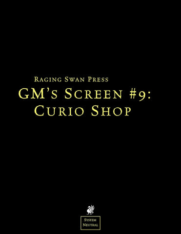 GM's Screen #9: Curio Shop