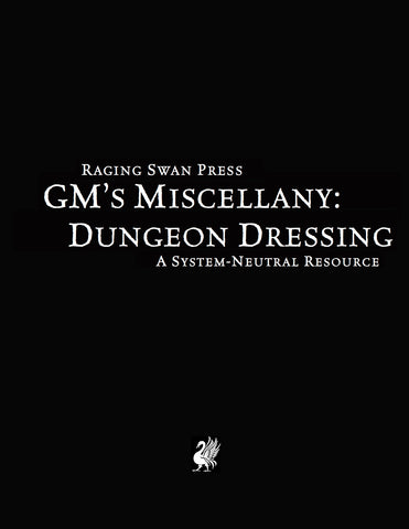 GM's Miscellany: Dungeon Dressing (SNE)