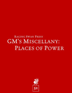 GM's Miscellany: Places of Power (5e)