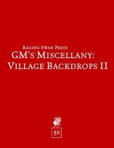 GM's Miscellany: Village Backdrop II (5e)