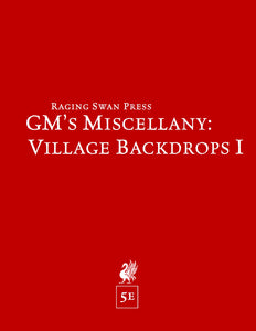 GM's Miscellany: Village Backdrop (5e)