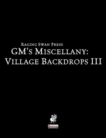 GM's Miscellany: Village Backdrop III