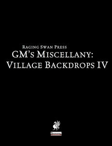 GM's Miscellany: Village Backdrop IV