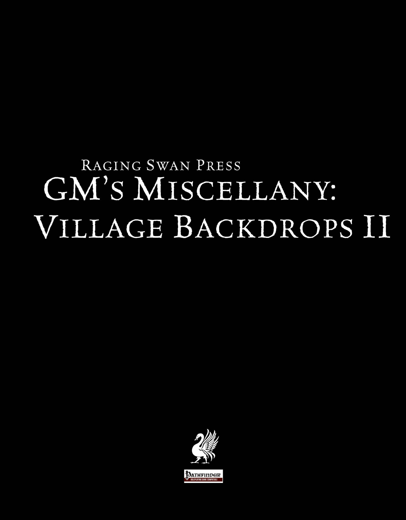 GM's Miscellany: Village Backdrop II