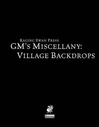 GM's Miscellany: Village Backdrop I