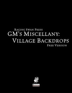 GM's Miscellany: Village Backdrop I (Free Edition)