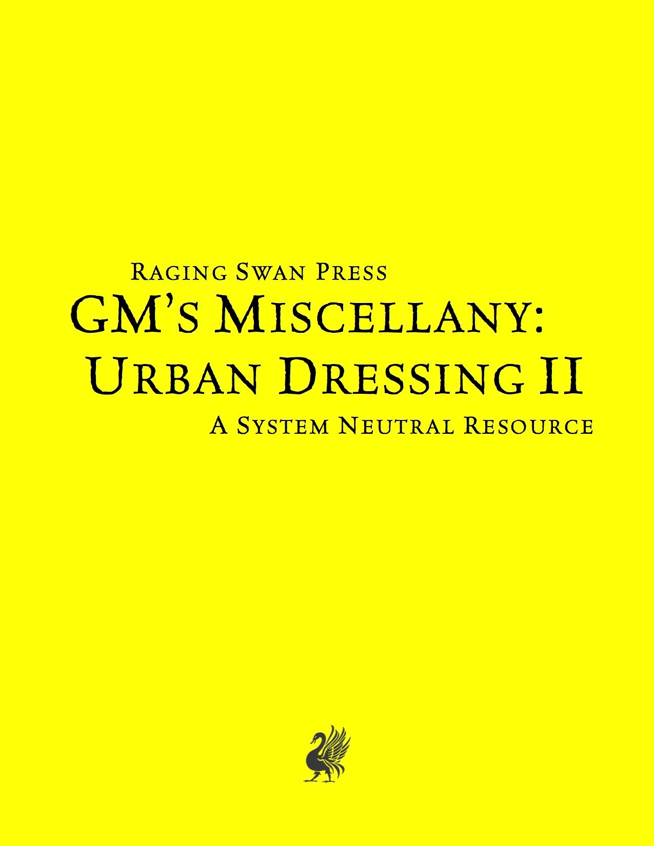 GM's Miscellany: Urban Dressing II (SNE)
