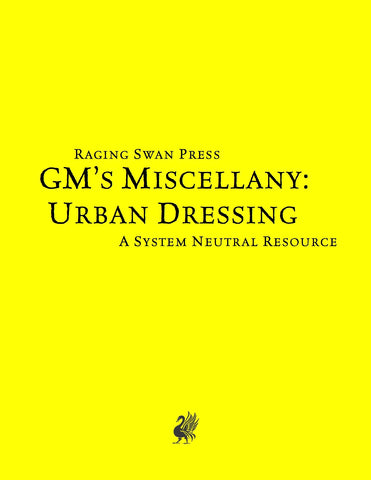 GM's Miscellany: Urban Dressing (SNE)