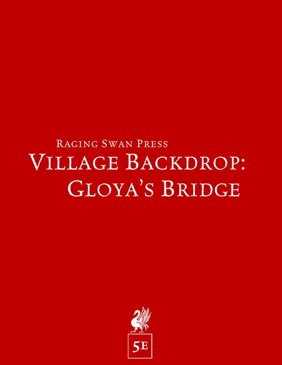 Village Backdrop: Gloya's Bridge (5e)