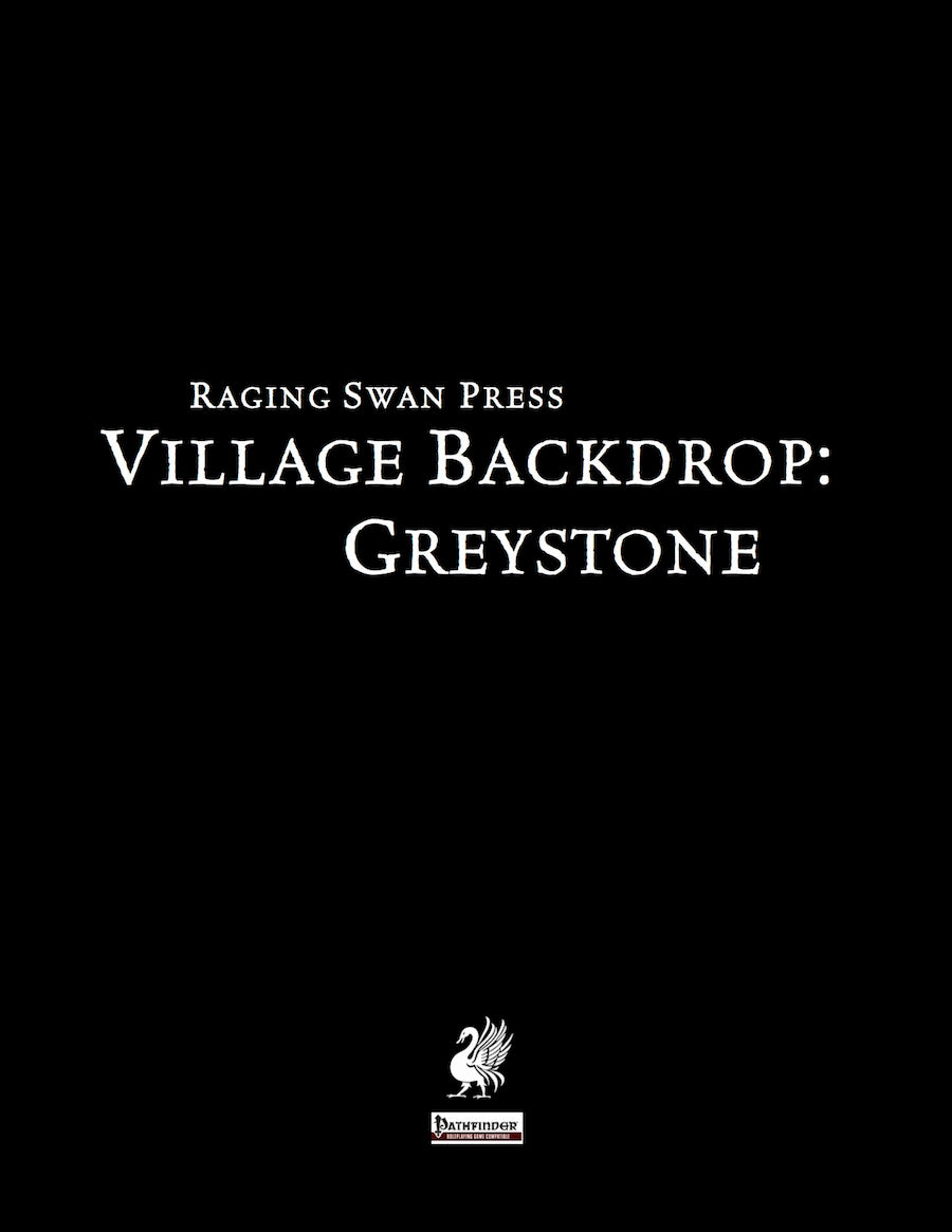 Village Backdrop: Greystone