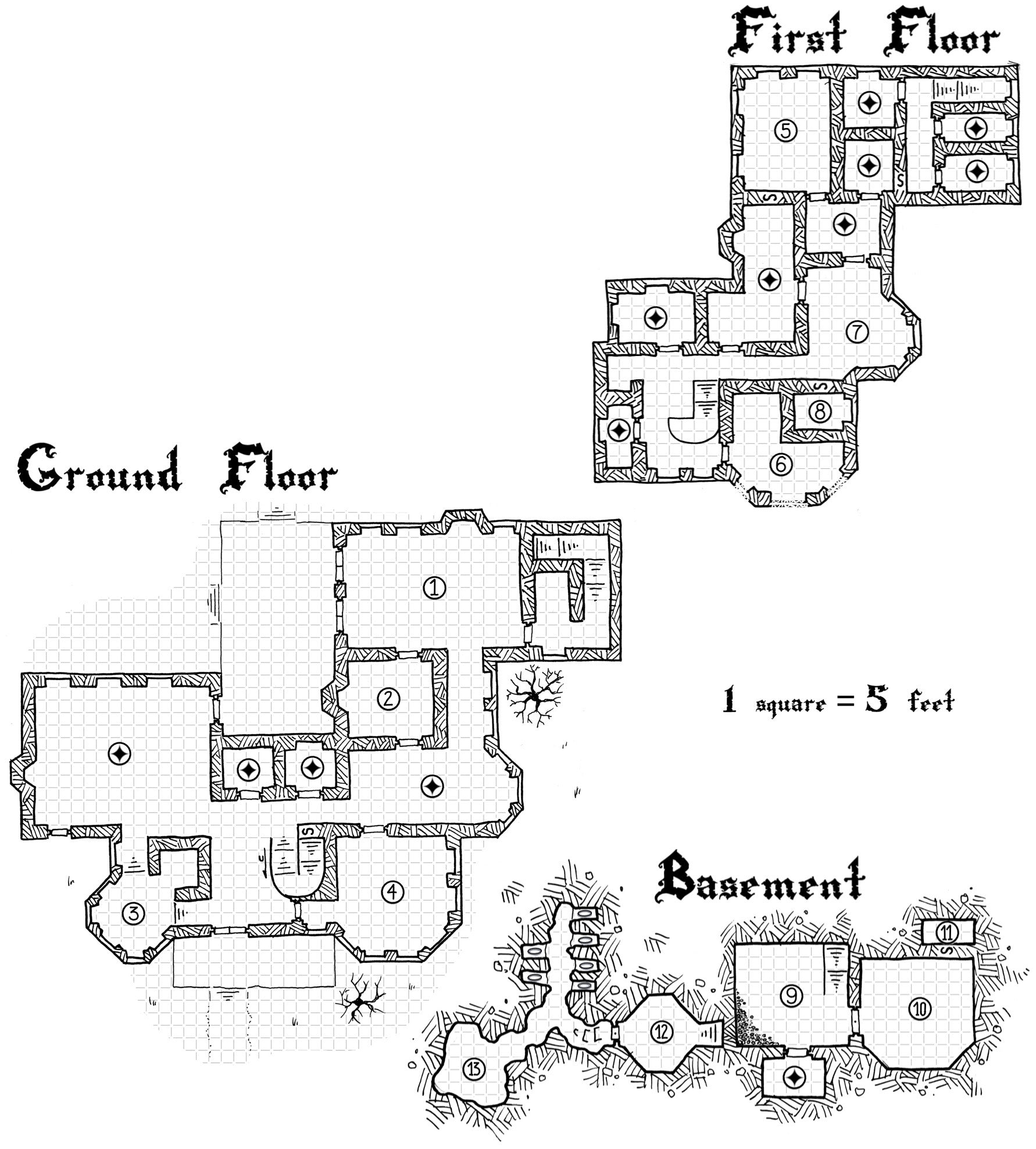 Dungeon Backdrop: The House of Yspher (5e)