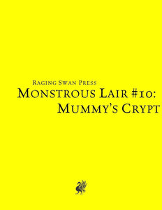 Monstrous Lair #10: Mummy's Crypt