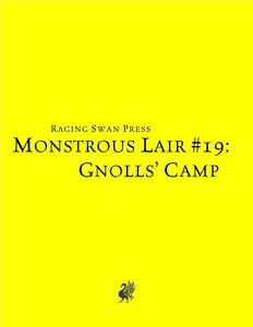 Monstrous Lair #19: Gnolls' Camp