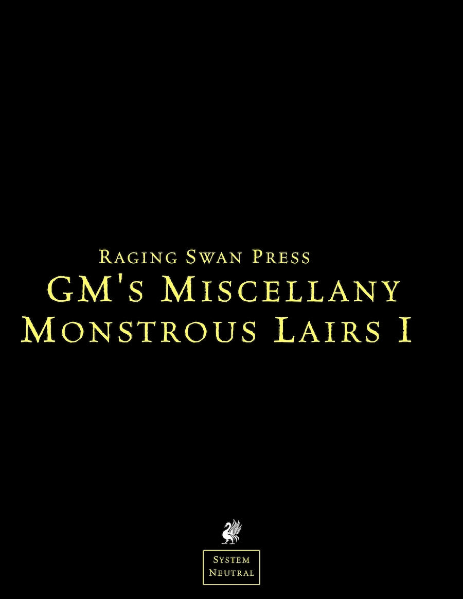 GM's Miscellany: Monstrous Lair I