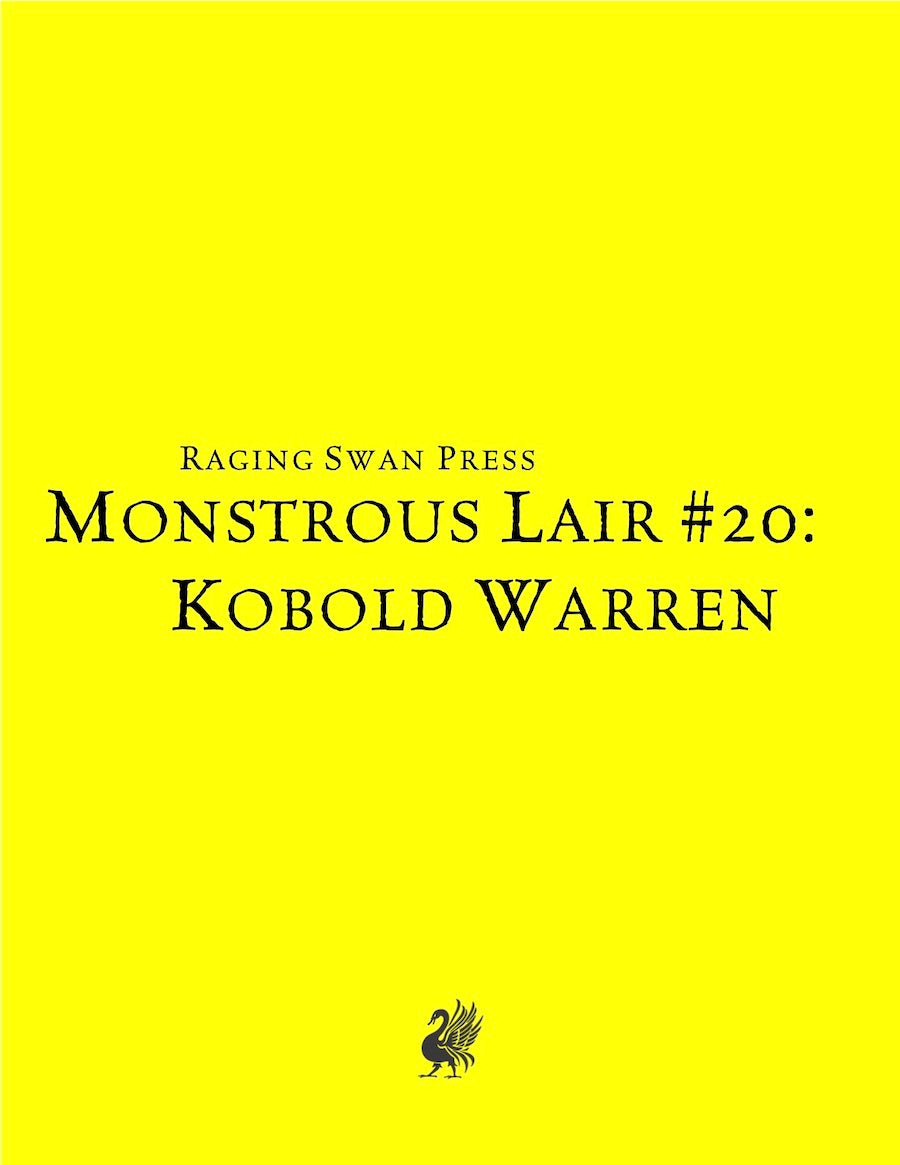 Monstrous Lair #20: Kobold Warren