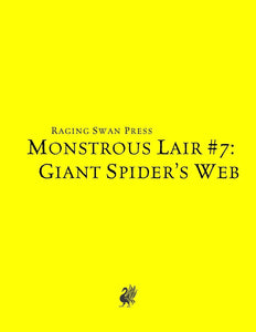 Monstrous Lair #7: Giant Spider's Web