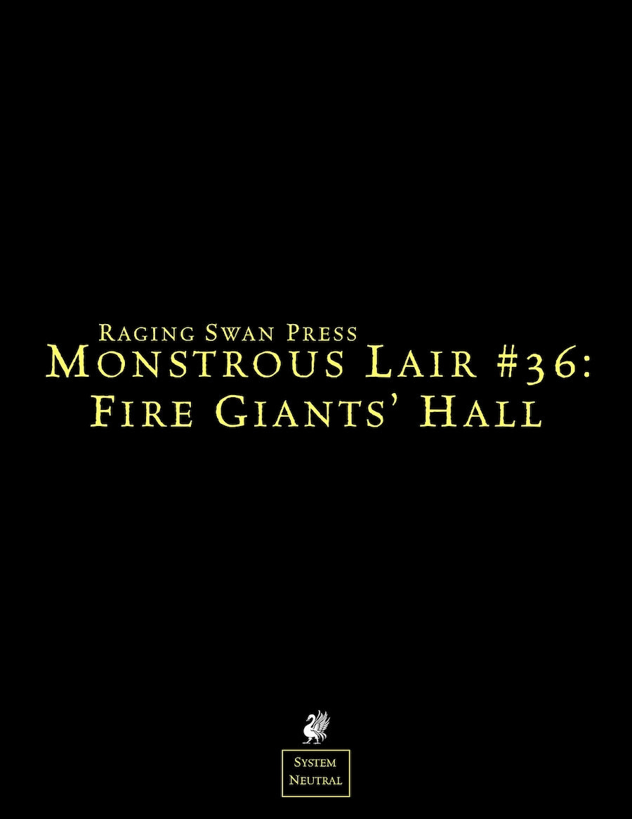 Monstrous Lair #36: Fire Giants' Hall