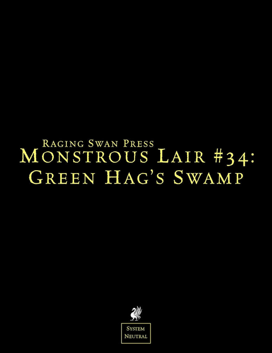 Monstrous Lair #34: Green Hag's Swamp