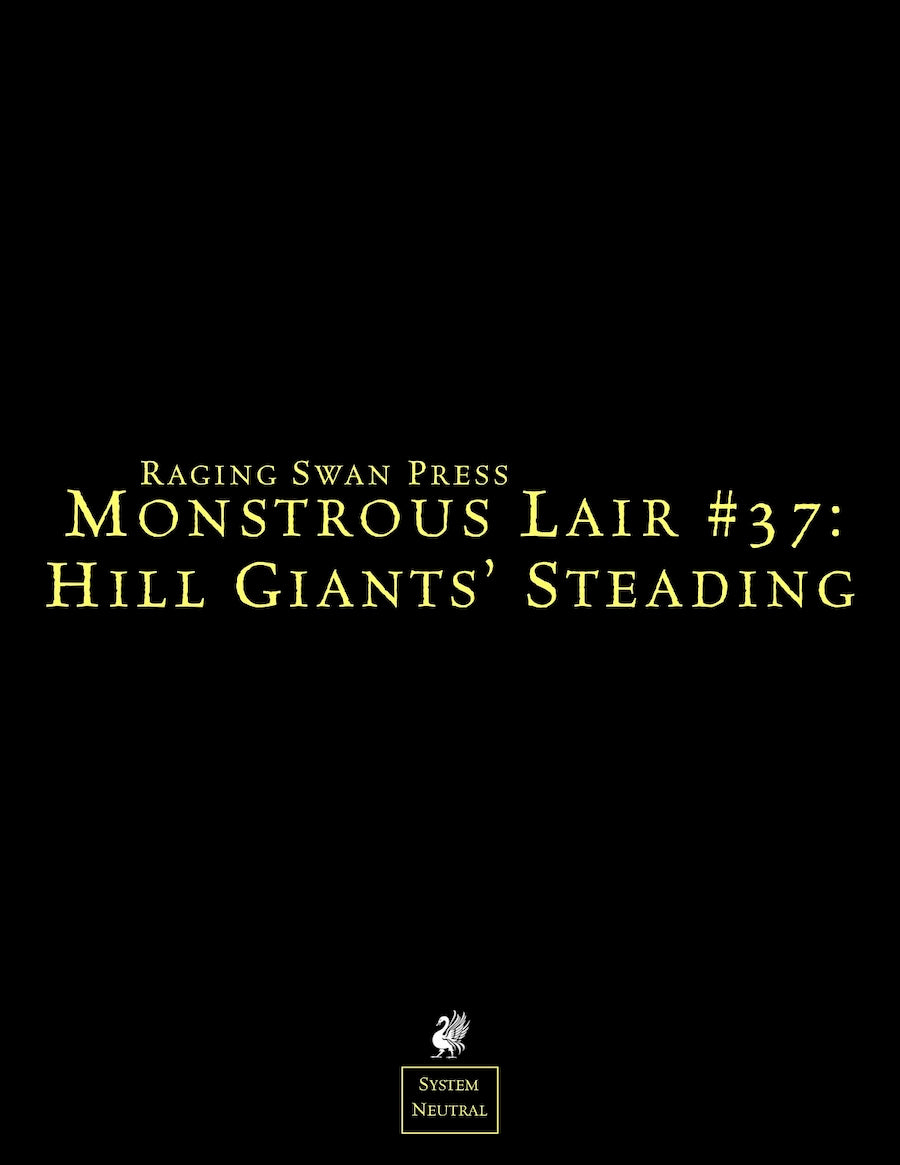 Monstrous Lair #37: Hill Giants' Steading