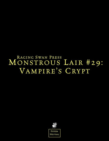 Monstrous Lair #29: Vampire's Crypt