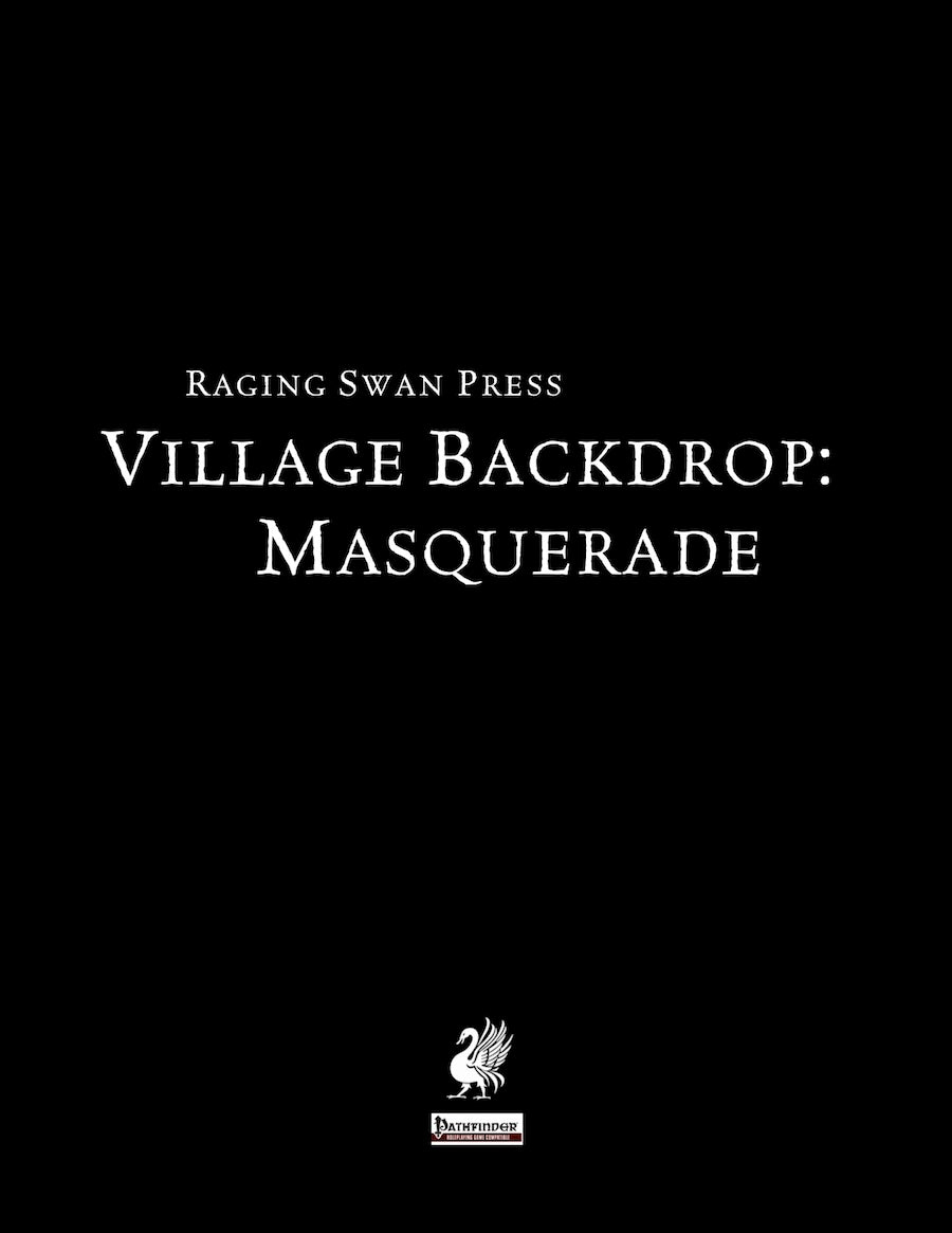 Village Backdrop: Masquerade