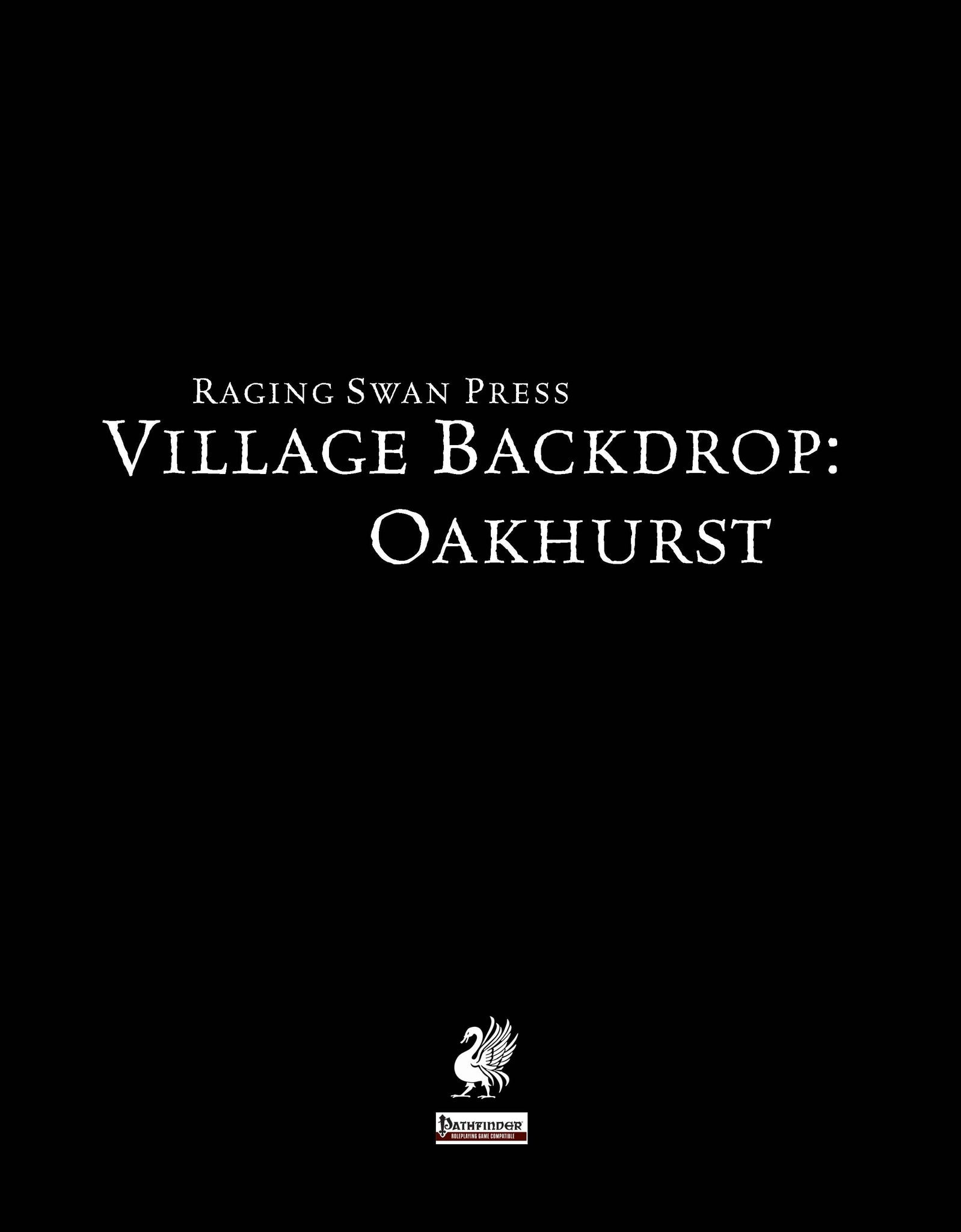 Village Backdrop: Oakhurst