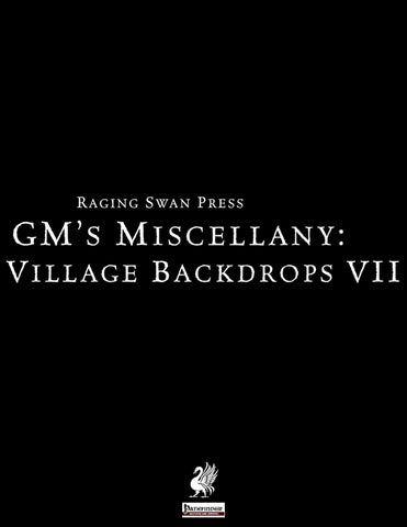 GM's Miscellany: Village Backdrop VII
