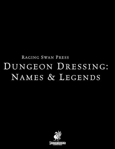 Dungeon Dressing: Names & Legends 2.0 (P2)