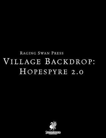 Village Backdrop: Hopespyre 2.0 (Pathfinder 2)