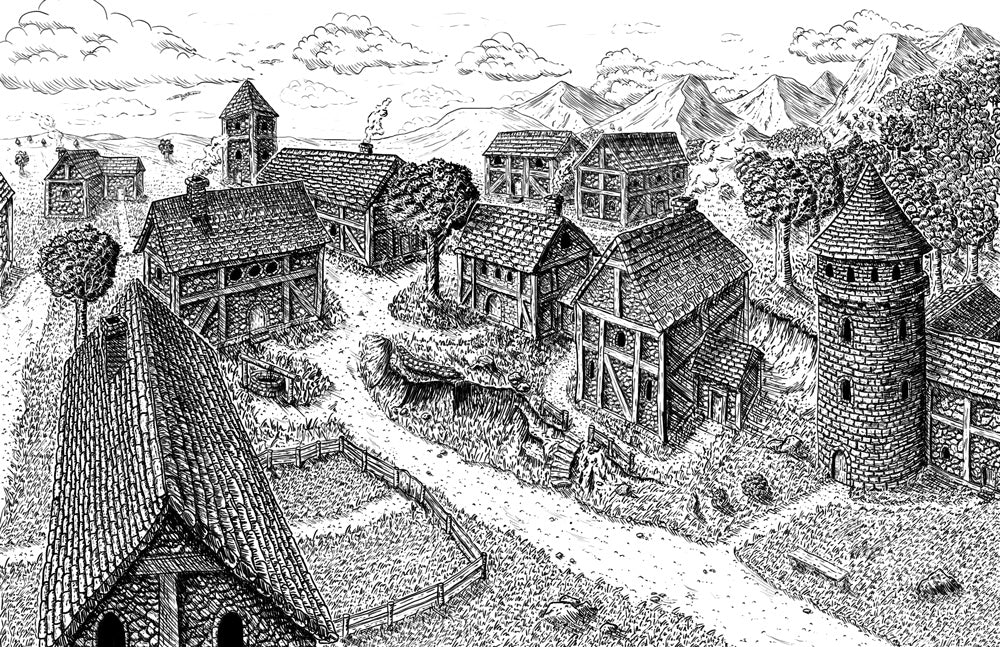 Village Backdrop: Woodridge (5e)