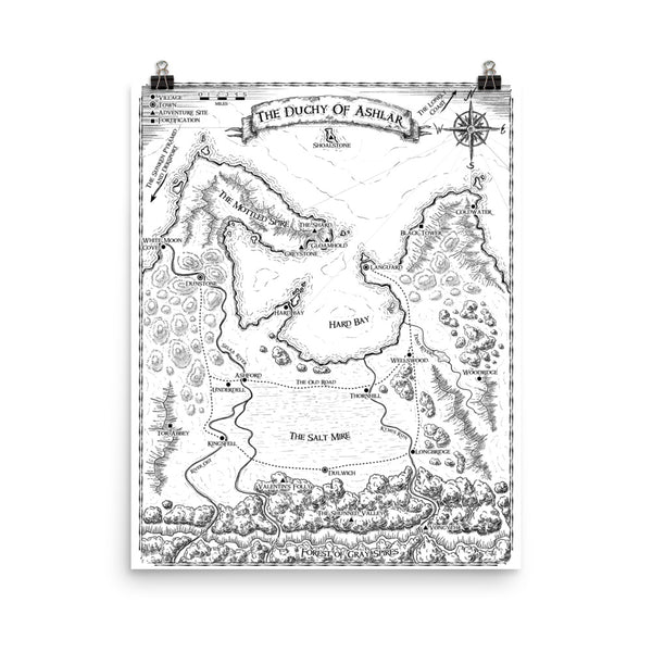 The Duchy of Ashlar Poster Map