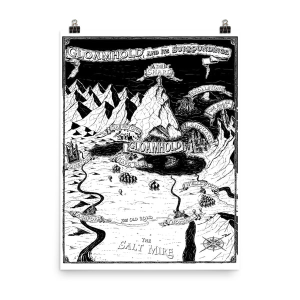 The Gloamhold Treasure Map Poster