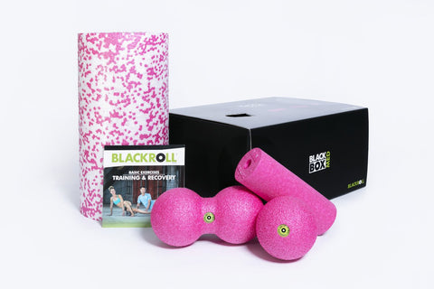 BLACKROLL® BLACKBOX MED SET med Rulle MED, MINI, BALL 08 och DUOBALL