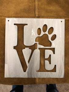 """LOVE"" WITH PAW PRINT"