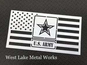 Steel Army American Flag