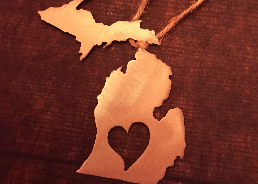 Michigan Heart Ornament
