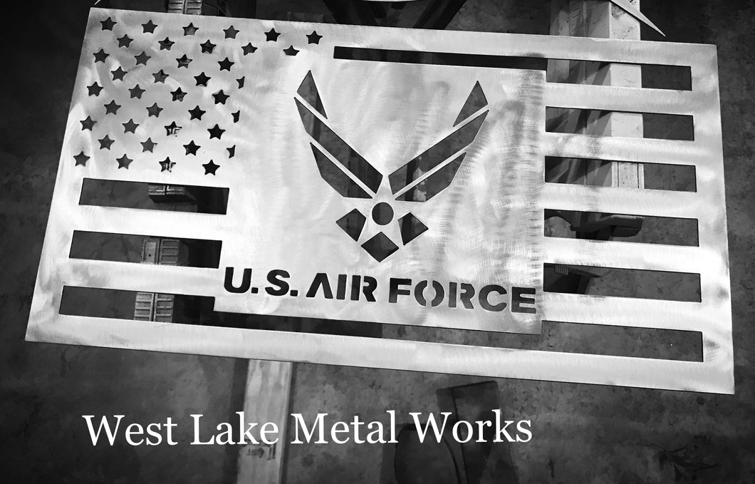 Steel Air Force American Sign