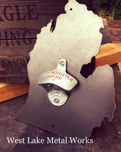 """THE ORIGINAL"" MICHIGAN STEEL BOTTLE OPENER"