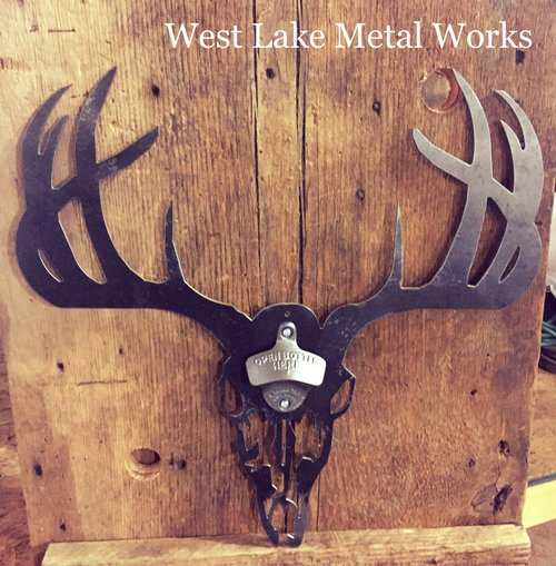 DEER HEAD STEEL BOTTLE OPENER