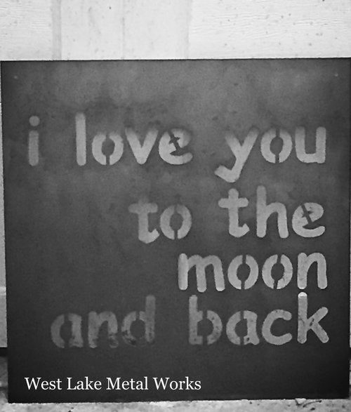 I LOVE YOU TO THE MOON & BACK SIGN WITH FLOWER