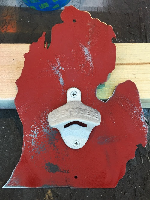 RED WINGS BOTTLE OPENER - DISTRESSED