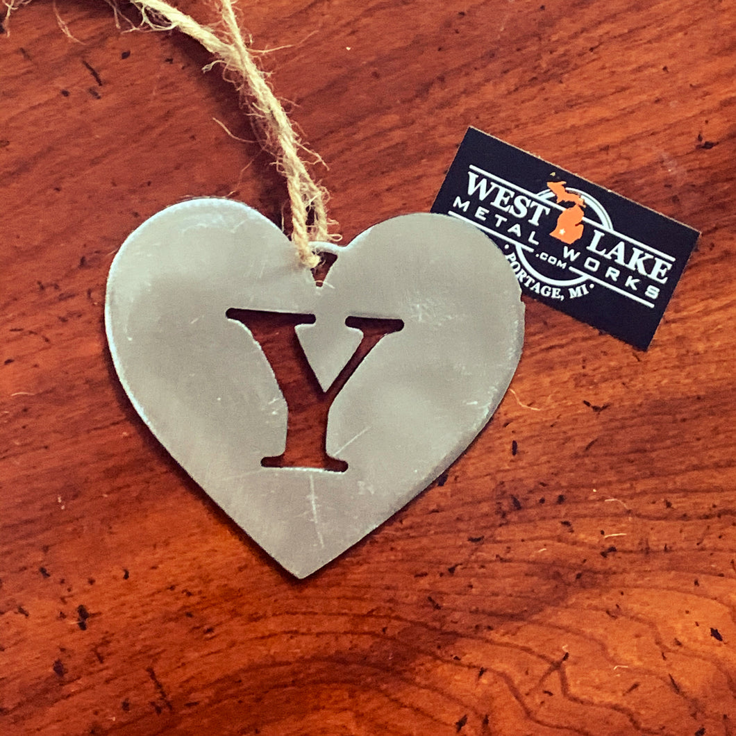 Y Monogram Holiday Ornament