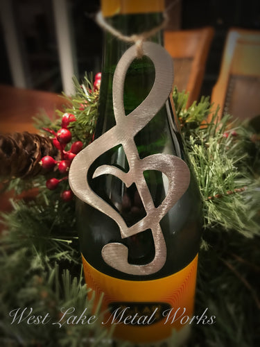 Treble Clef Heart Ornament