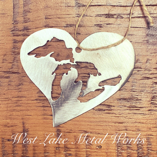 Great Lakes Heart Holiday Ornament